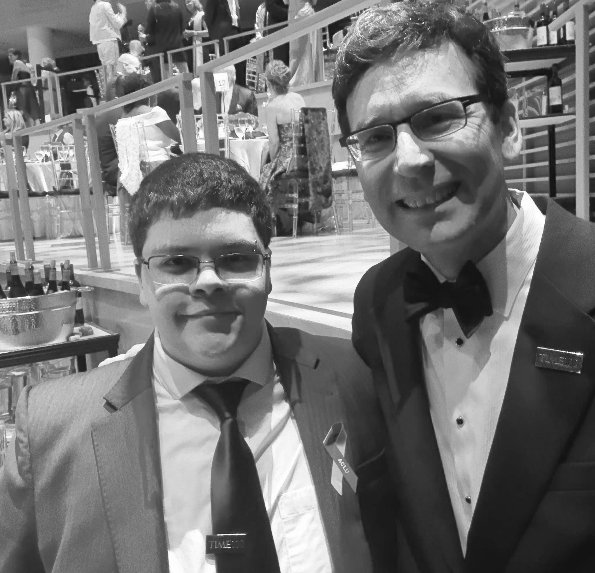 Attorney General Bob Ferguson and Gavin Grimm at the 2017 TIME 100 Gala.