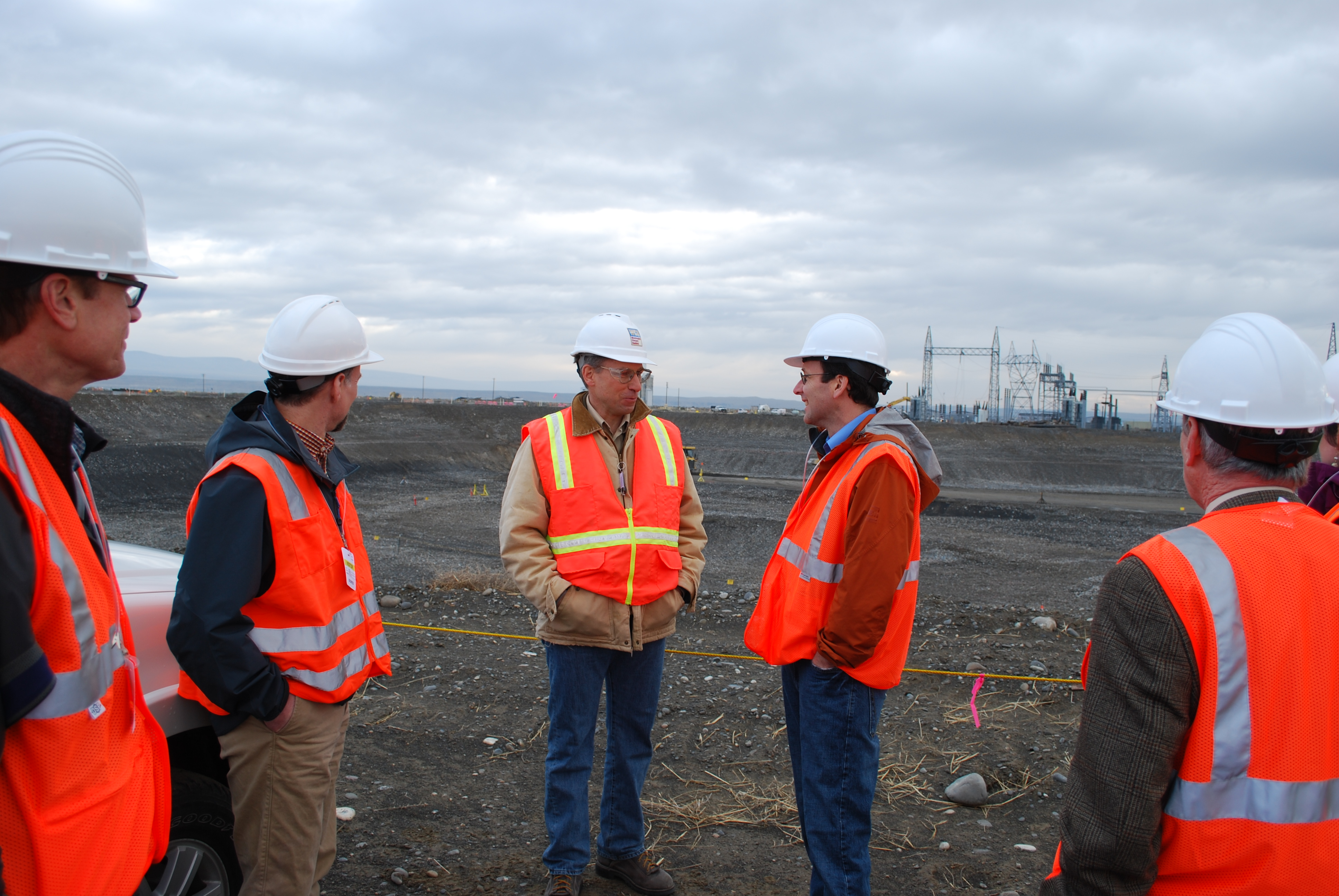 Attorney General Ferguson talking to workers at Hanford Nuclear Reservation