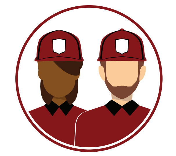 Depiction of generic fast-food workers
