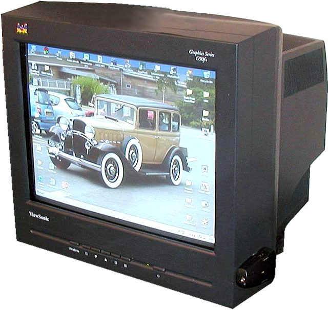Cathode ray tube (CRT) television