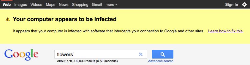 Googlewarning