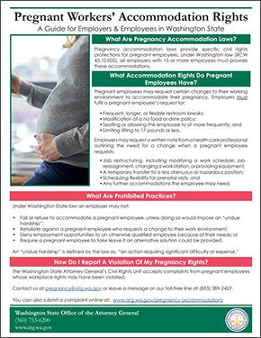 Pregnancy Accommodations Washington State - Employee handbook template washington state