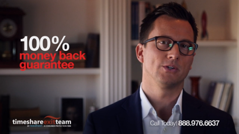 """Ad featuring Reed Hein's """"100% money back guarantee"""""""