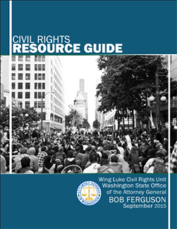 Cover photo of the Civil Rights Resource Guide
