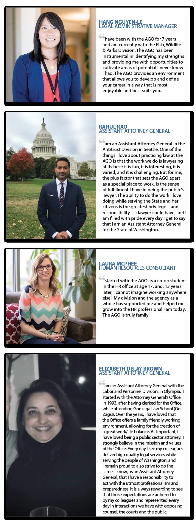 employee testimonial portraits